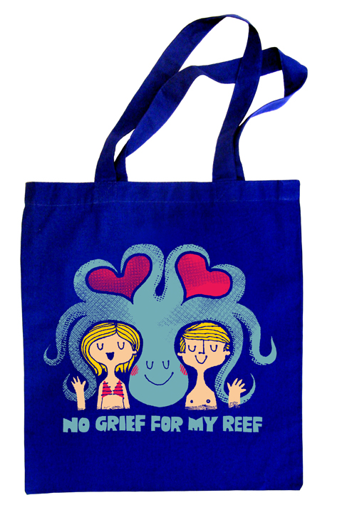 """No Grief for My Reef"" Tote Bag by Jim Datz for Part of It"