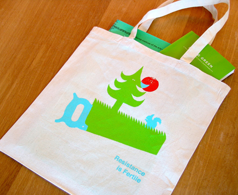 Resistance is Fertile Tote Bag by Adri